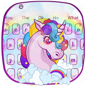 Cute Unicorn Keyboard Theme 10001002