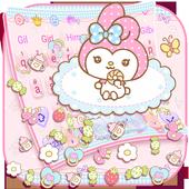 Cute Kawaii Keyboard Theme 10001002