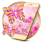 Pink Diamond Butterfly Keyboard 10001002