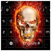 Flaming Skeleton Keyboard 10001001