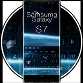 Blue Keyboard For Galaxy S7 10001003