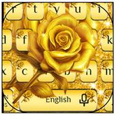 Golden Glittering Rose Keyboard 10001006