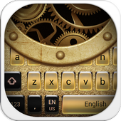 Gold Metal Keyboard Theme 10001003