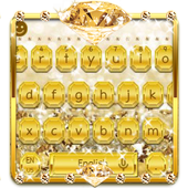 Gold Diamond Keyboard Theme 10001002