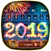 2019 Happy New Year Keyboard Theme 10001002