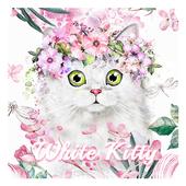 White Kitty Keyboard 10001003