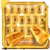 Luxury Gold Keyboard Theme 10001002