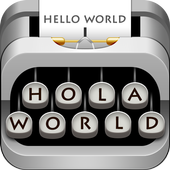 3D Classical Typewriter-Keyboard Music & GIF Emoji 10001008