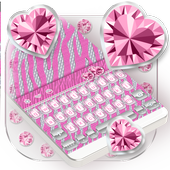 Bling Pink Zebra Keyboard Theme
