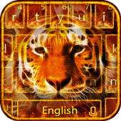 Cool flame tiger keyboard theme 10001002