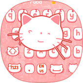 Pink kitty Cartoon Cute Cat keyboard bowknot theme 10001002