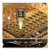 Gold Diamond Bowknot Keyboard