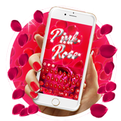 2018Beautiful Red Rose petals Keyboard 10001003