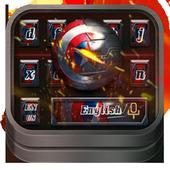 Captain keyboard Metal effects theme 10001001