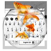 Gold Fish Aquarium Keyboard Theme 10001016