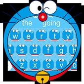 Blue Cute Kitty Keyboard Theme 10001017