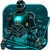 Blue Neon Hero Keyboard 10001006