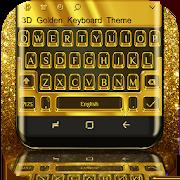 3D Golden Keyboard Theme 10001003
