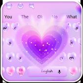 Love Purple Keyboard Theme 10001001