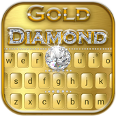 Luxury Gold Diamond Keyboard Theme 10001002