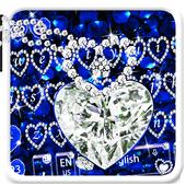 Blue Rose Diamond Keyboard Theme 10001002