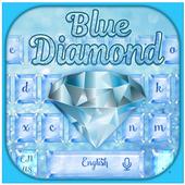 Shiny Blue Diamond Glitter Keyboard Theme 10001001