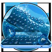Ocean Water Droplets Keyboard 10001002