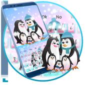 Cute Penguin Family Keyboard Theme🐧 10001001
