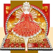 Glitter Diamond Princess Keyboard Theme 10001001