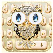 Luxury Golden Diamond Owl Keyboard 10001001