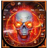 Devil Flaming Skull Keyboard Theme 10001001