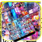 Colorful Broken Glass Keyboard Theme 10001001
