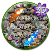 3D Lively Koi Fish Keyboard Theme 10001009