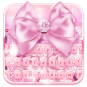 Pink Diamond Bowknot Keyboard 10001003