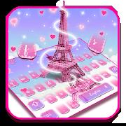 Pink Paris Keyboard Theme 10001002