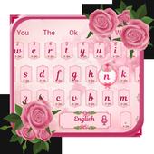 Pink Rose Love Keyboard 10001003