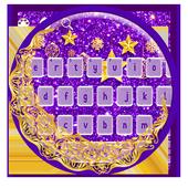 Purple Golden Glitter Moon Keyboard 10001003