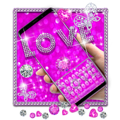 Purple Love Gravity Keyboard Theme 10001003