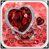Red Heart Diamond Keyboard 10001004