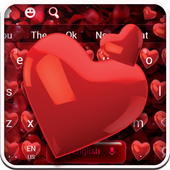 Red Love Petals Keyboard 10001004