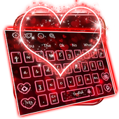 Luminous Heart Keyboard Theme 10001002