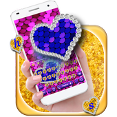 Sequin Flip Love Keyboard Theme