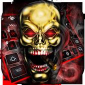 Cool Smoke Skull Keyboard 10001003