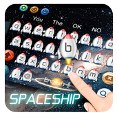 Spaceship rocket Keyboard 10001002