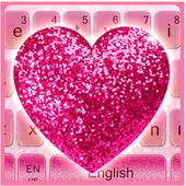 Sparkling Heart Pink Diamonds Keyboard 10001002
