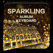 Sparkling Aurum Keyboard Theme 10001002