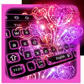 Sparkling Neon Firework Keyboard 10001006