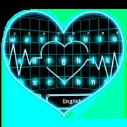 Tech Neon Heart Keyboard 10001003