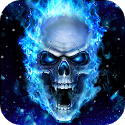 Blue Fire Skull Live Wallpaper 2.4.5