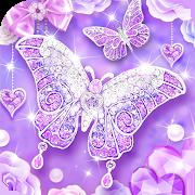 Purple Diamond Butterfly Live Wallpaper 1.1.1